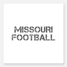 "MISSOURI football-cap gray Square Car Magnet 3"" x"