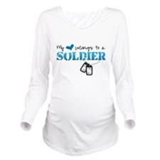 My Heart Belongs To Long Sleeve Maternity T-Shirt