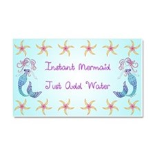 Instant Mermaid Just Add Water Car Magnet 20 x 12