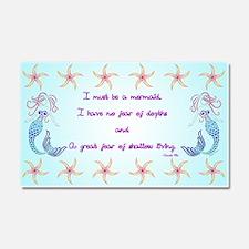Mermaid Musings Car Magnet 20 x 12