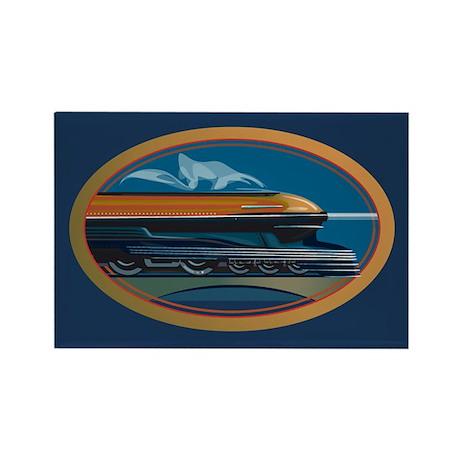 Train Art Rectangle Magnet (10 pack)