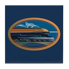 Train Art Tile Coaster