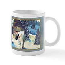 """Winter Cottage"" Great Pyrenees Mug"