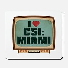 Retro I Heart CSI: Miami Mousepad