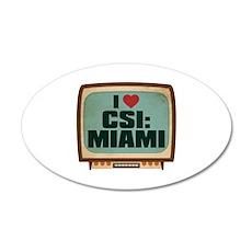 Retro I Heart CSI: Miami 22x14 Oval Wall Peel