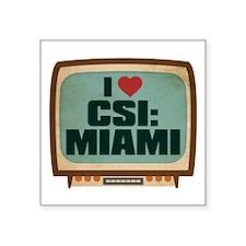 """Retro I Heart CSI: Miami Square Sticker 3"""" x 3"""""""
