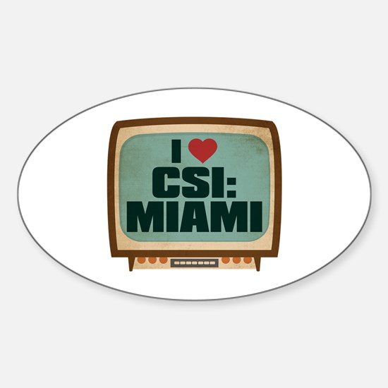 Retro I Heart CSI: Miami Oval Decal