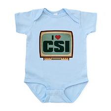 Retro I Heart CSI Infant Bodysuit