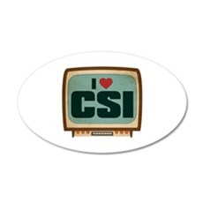 Retro I Heart CSI 22x14 Oval Wall Peel