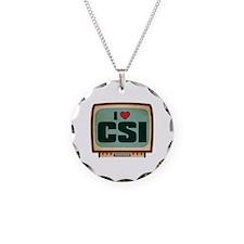 Retro I Heart CSI Necklace