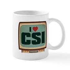 Retro I Heart CSI Mug