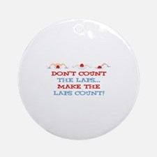 Make Laps Count Ornament (Round)