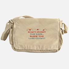 Make Laps Count Messenger Bag