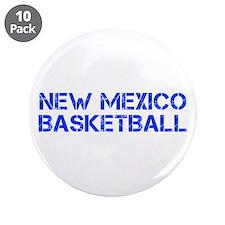 "NEW MEXICO basketball-cap blue 3.5"" Button (10 pac"
