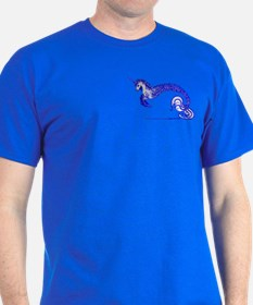 Saphire Blue Sea Unicorn T-Shirt