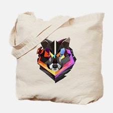 COLORED WOLF Tote Bag