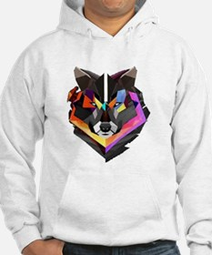 COLORED WOLF Hoodie