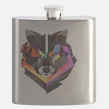 COLORED WOLF Flask
