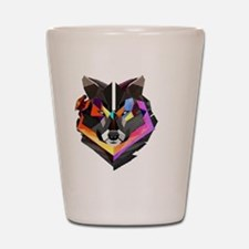 COLORED WOLF Shot Glass