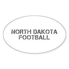 NORTH DAKOTA football-cap gray Decal