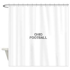 OHIO football-cap gray Shower Curtain