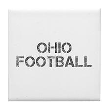 OHIO football-cap gray Tile Coaster