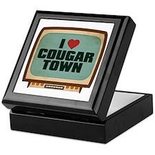 Retro I Heart Cougar Town Keepsake Box