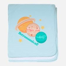 Astronomical! Planets baby blanket