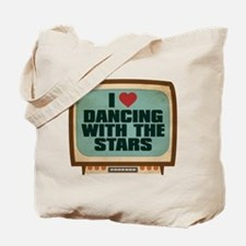 Retro I Heart Dancing With the Stars Tote Bag
