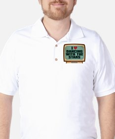 Retro I Heart Dancing With the Stars Golf Shirt