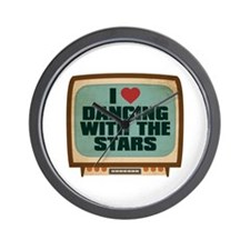 Retro I Heart Dancing With the Stars Wall Clock