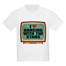 Retro I Heart Dancing With the Stars T-Shirt