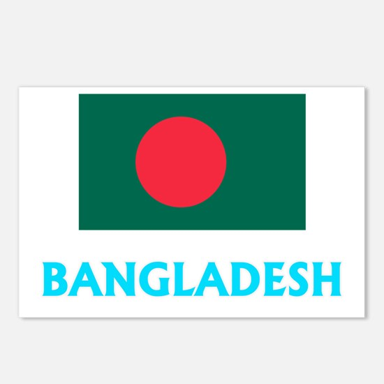 Bangladesh Flag Classic B Postcards (Package of 8)