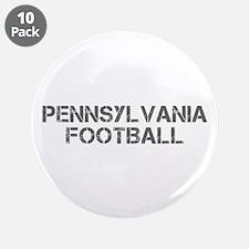 """PENNSYLVANIA football-cap gray 3.5"""" Button (10 pac"""