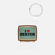 Retro I Heart Dexter Keychains