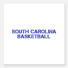 SOUTH CAROLINA basketball-cap blue Square Car Magn
