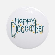 Happy December Ornament (Round)
