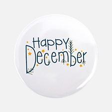 "Happy December 3.5"" Button"