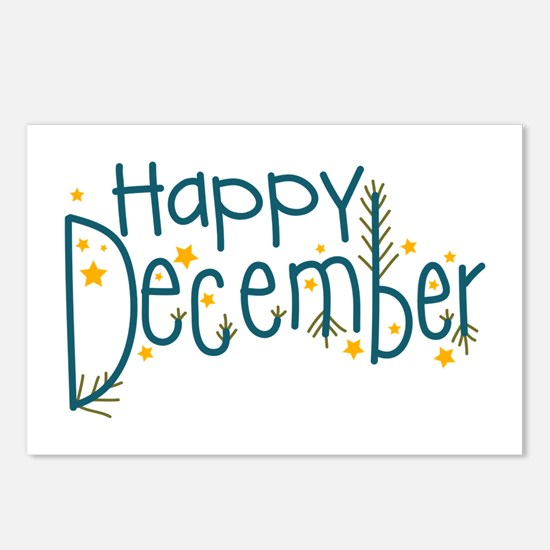Happy December Postcards (Package of 8)