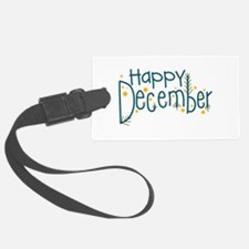 Happy December Luggage Tag