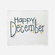 Happy December Throw Blanket