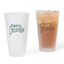 Happy December Drinking Glass
