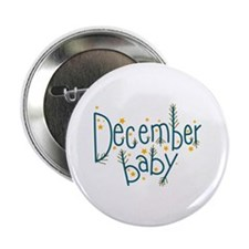 "December Baby 2.25"" Button (10 pack)"