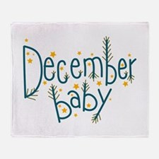 December Baby Throw Blanket