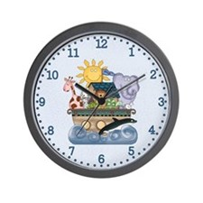 Noah's Ark (blue) Wall Clock