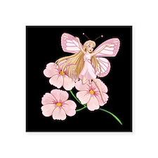 "Flower Fairy- Square Sticker 3"" x 3"""