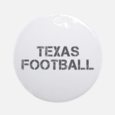 TEXAS football-cap gray Ornament (Round)