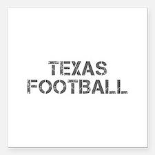 "TEXAS football-cap gray Square Car Magnet 3"" x 3"""