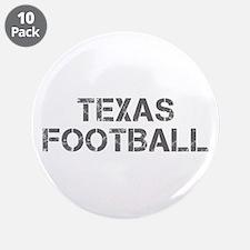 "TEXAS football-cap gray 3.5"" Button (10 pack)"