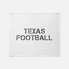 TEXAS football-cap gray Throw Blanket